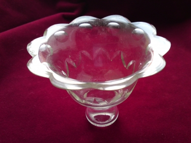Vintage cut glass candle cup