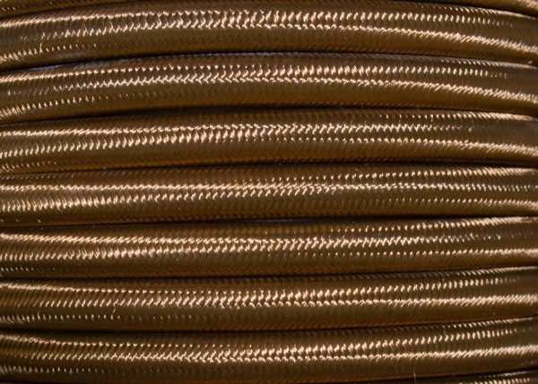 2 CORE ROUND BRAIDED HAVANA GOLD PERIOD SILK FLEX 0.50MM ELECTRIC CABLE