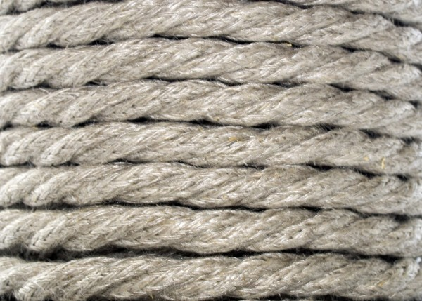 Hessian Twist Braided 3 Core Silk Flex Lighting Cable 0.75mm x 100 Metres