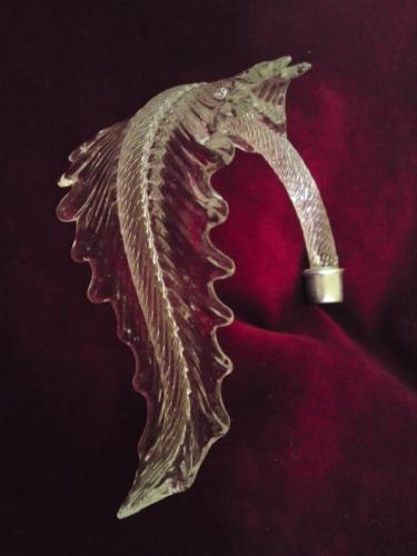 Vintage chandelier part leaf arms murano vintage chandelier part leaf arms mozeypictures Choice Image