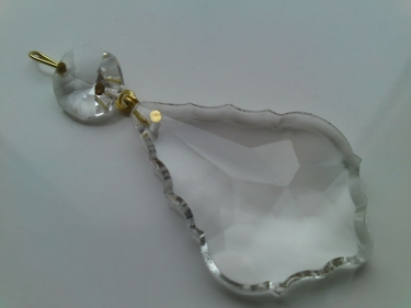 CRYSTAL CLEAR CHANDELIER DROP AND BUTTON READY TO HANG