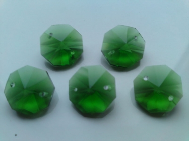 5 X GREEN CRYSTAL CHANDELIER BUTTONS CHANDELIER DROPS