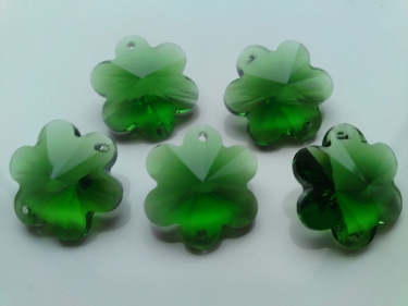 5 X GREEN CRYSTAL CHANDELIER BUTTONS CHANDELIER FLOWERS