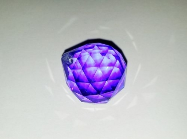 DARK BLUE CRYSTAL CHANDELIER BOTTOM BALL 20MM 1 TOP PIN HOLE