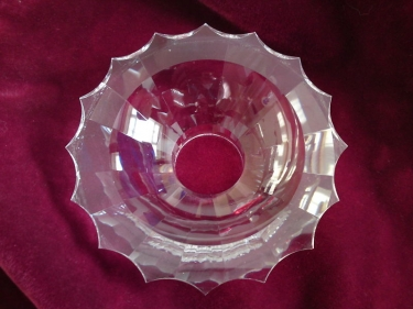 CHANDELIER CRYSTAL BOBECHE - DRIP PAN NO PIN HOLES