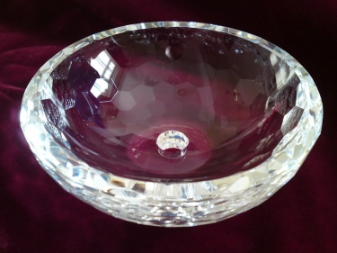 LARGE CHANDELIER CRYSTAL BOTTOM BOWL NO PIN HOLES