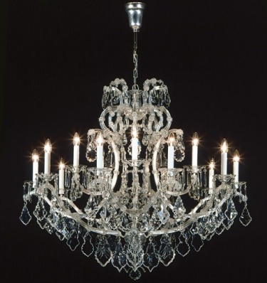 Hand cut crystal chandelier
