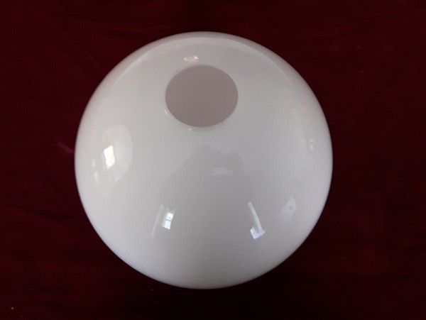 White glass round Globe Shade