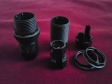 B15 - SBC bulb-lamp holder 3 part black threaded skirt