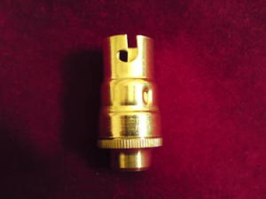 candle lampholder SBC - B15 brass finish 10MM thread