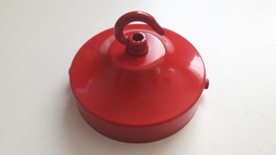 Red Ceiling Rose, Open Hook and Strap Bracket