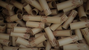box of 50 Candle Tubes Antique Drip Plastic 90mm x 27mm